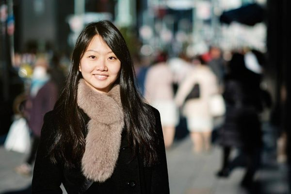 Beautiful Japanese women are sniggering when they laugh