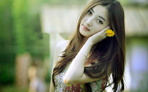 An Asian girlfriend is always well-groomed, neatly dressed and have make up